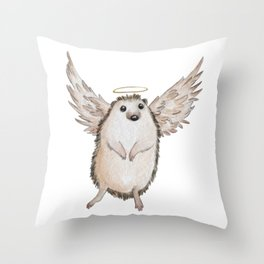 Angel hedgehog Throw Pillow