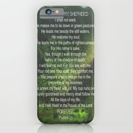 Psalms 23 Lords Prayer iPhone Case