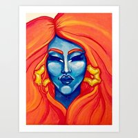 rupaul Art Prints featuring I Adore You by Gracie Smith