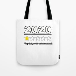 2020 Review 1 Star Rating Very Bad Would Not Recommend Gift Tote Bag