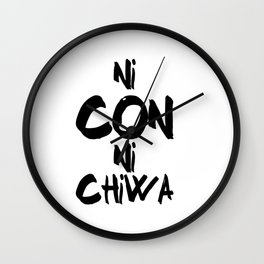 Ni Con Ni Chiwa Wall Clock