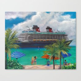 Ride to Paradise, Fantasy Canvas Print