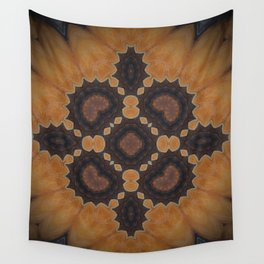 """Amber Rose Mandala (created from the painting """"Birth of a Mother"""") Wall Tapestry"""