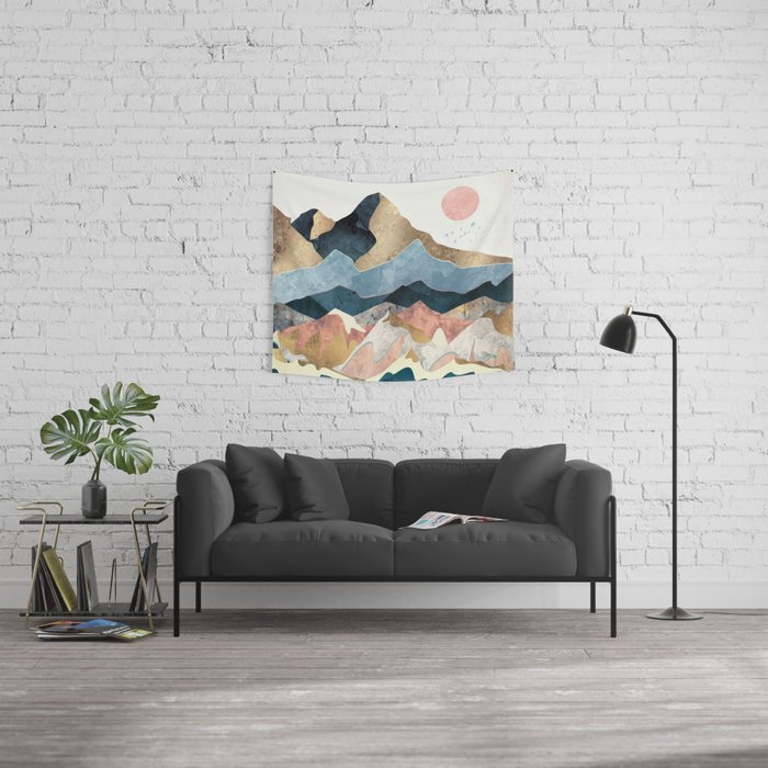 Golden Peaks Wall Tapestry