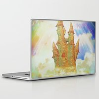 castle in the sky Laptop & iPad Skins featuring castle in the sky by Ancello