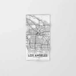 Minimal City Maps - Map Of Los Angeles, California, United States Hand & Bath Towel