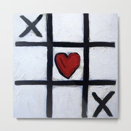 Real Love - How To Win at Tic-Tac-Toe by Scott Richard Metal Print