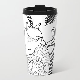 Hugging foxes Travel Mug