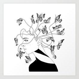 Figments II (Head Full of Broken Realities) Art Print