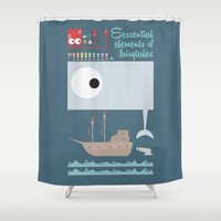 moby dick Shower Curtains featuring Essential of fairy tales (Moby-dick) by Seez