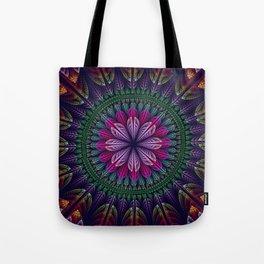 Summer mandala with fantasy flower and petals Tote Bag