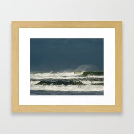 Sandy Waves Framed Art Print