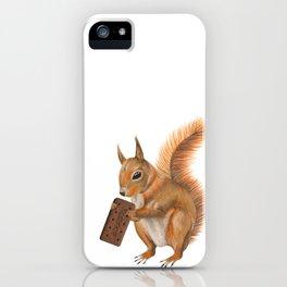 Super squirrel. iPhone Case