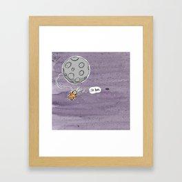 Bunny Behind the Moon Framed Art Print