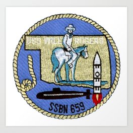 USS WILL ROGERS (SSBN-659) PATCH Art Print