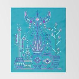 Santa Fe Garden – Blue & Purple Throw Blanket