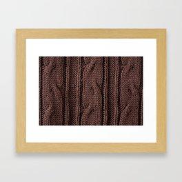 Brown braid jersey cloth texture abstract Framed Art Print