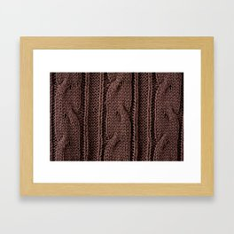 Brown braid jersey cloth texture abstract Framed Art Print