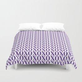 Purple XOXO Duvet Cover