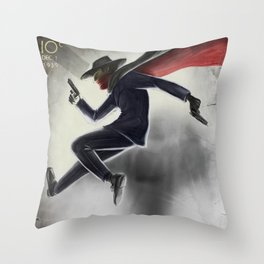 The Shadow Knows Throw Pillow