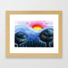 Colorful Sunset Landscape Framed Art Print