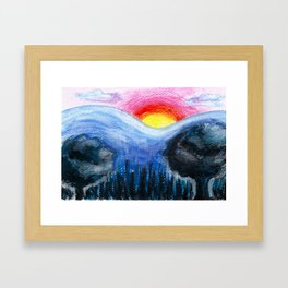 Colorful Sunset Landscape Framed Art Print