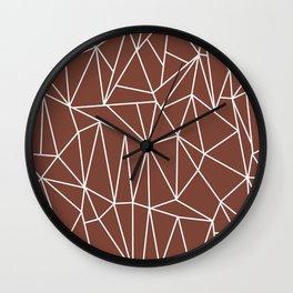Geometric Cobweb (White & Brown Pattern) Wall Clock