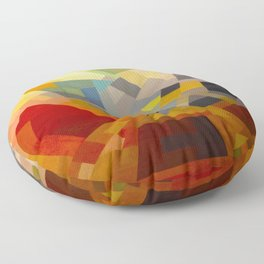 Otto Freundlich Komposition 1939 Mid Century Modern Abstract Colorful Geometric Painting Pattern Art Floor Pillow