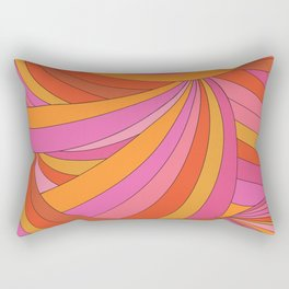 60s Swirls Rectangular Pillow