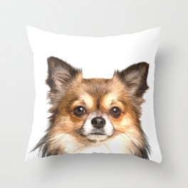Chihuahua Portrait Throw Pillow