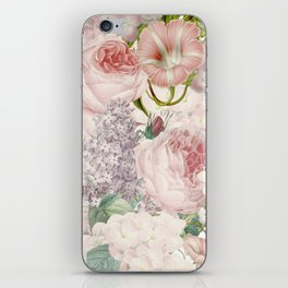 Vintage Roses and Lilacs Pattern - Smelling Dreams iPhone Skin