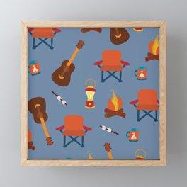 Outdoor Summer Camping Framed Mini Art Print