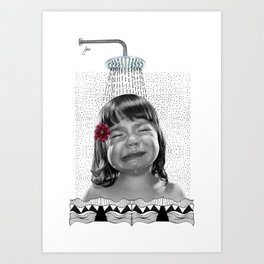 Cryin. Art Print