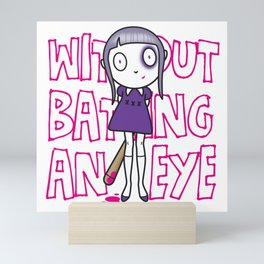 Batting an eye Mini Art Print