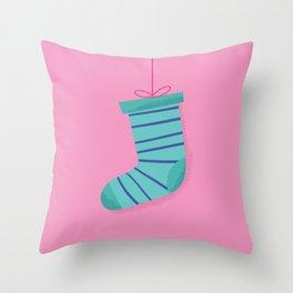 Christmas Sock - Chaussette de Noël Throw Pillow