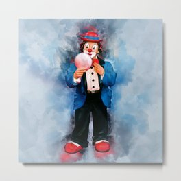 The Clown Metal Print