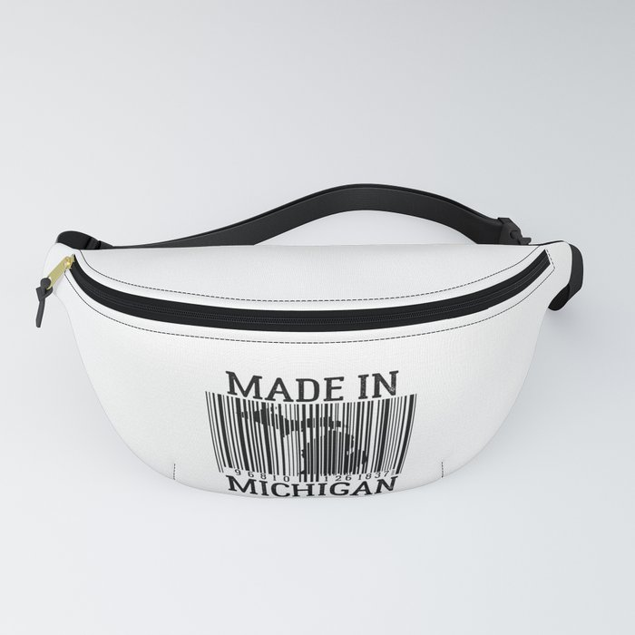 MADE IN MICHIGAN Barcode Fanny Pack by designchaserstudio