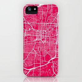 Greensboro map raspberry iPhone Case