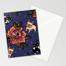 Frenchies~ all colors Stationery Cards