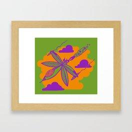 Peace Pilot Framed Art Print