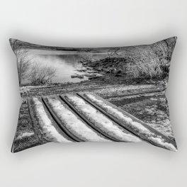 Lake Padarn Bench Rectangular Pillow