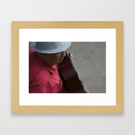 Lincoln Road Guitarist Framed Art Print