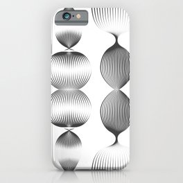 Veggie & Co - Black and White iPhone Case