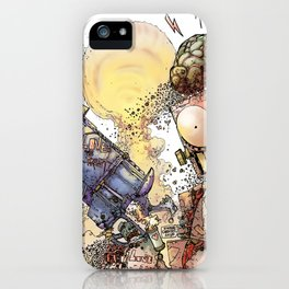 LOVE ME LIKE A PSYCHO ROBOT iPhone Case