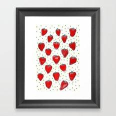 Strawberries Celebration Framed Art Print