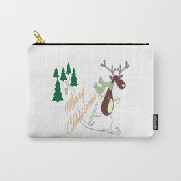 Christmas Reindeer Carry-All Pouch