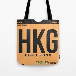 HKG Hog Kong Luggage Tag 2 Tote Bag