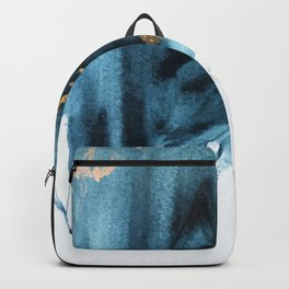 Sapphire and Gold Abstract Backpack