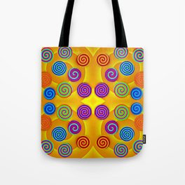Colorful soft twirls by wool Tote Bag
