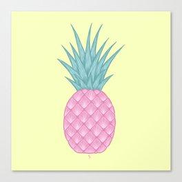 Pink pastel pineapple Canvas Print